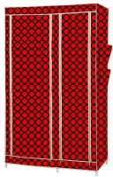 MSE Stainless Steel Collapsible Wardrobe (Finish Color - Red) - CWDEM4P2Y3WHCQZN