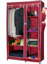 CbeeSo Mild Steel (Carbon Steel) Collapsible Wardrobe (Finish Color - Dark Maroon)