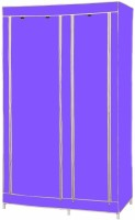 MSE Jute Collapsible Wardrobe (Finish Color - Purple)