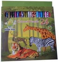 Little Tree Art Creation Round Shaped Color Pencils (Set Of 1, Multicolor) - CPSE3HZ2J4GDMAUS