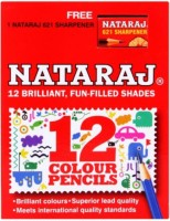 Nataraj Half Size 12 Col. Round Shaped Color Pencils (Set Of 2, Multicolor)