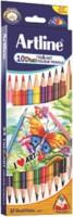 Artline Tri Art Duo 10 Round Shaped Color Pencils (Set Of 1, Multicolor)