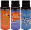 Park Avenue Park Avenue Alpha, Cool Blue, Good Morning Pack Of 3 Deodorants Combo Set - Set Of 3