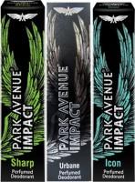 Park Avenue Impact Sharp,Urbane,Icon Prefumed Deodorants Pack Of 3 For Men Combo Set (Set Of 3)