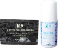 Lass Naturals Ddeodorant For The Men With Activated Charcoal Soap Combo Set (Set Of 2)