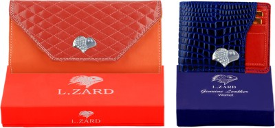 L,zard L,Zard Women Clutch & Men's Wallet Combo Set