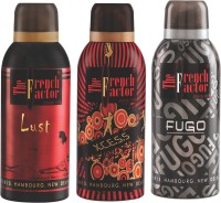 French Factor Lust, Xcess & Fugo Silver Deodorant Combo Set (Set Of 3)