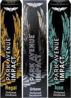 Park Avenue Impact Regal,Urbane,Icon Prefumed Deodorants Pack Of 3 For Men Combo Set (Set Of 3)