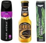 Park Avenue Combos Park Avenue Storm,Sharp,Damage Beer Shampoo Combo Set