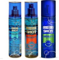 Layer'r Shot Absulute Power,Game,Craze Deo (Pack Of 3) Combo Set (Set Of 3)