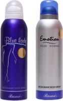 Rasasi Emotion Men::Blue Lady Combo Set (Set Of 2)