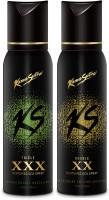 Kamasutra Black Series Deodorant Gift Set  Combo Set (Set Of 2) - CAGEA3DXSHQHFNYM