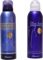 Rasasi Royale Blue Men::Blue Lady Combo Set (Set Of 2)