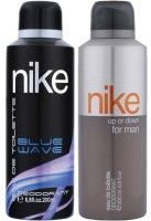 Nike Deodorant Blue Wave,Up Or Down 200 Ml Gift Set  Combo Set (Set Of 2)