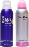Rasasi Blue For Men::Emotion Women Combo Set (Set Of 2)
