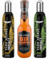 Park Avenue Regal,Sharp And Oily Beer Shampoo Combo Set (Set Of 3)