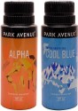 Park Avenue Park Avenue Alpha, Cool Blue Pack Of 2 Deodorants Combo Set - Set Of 2