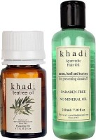 Khadi Natural Tea-Tree (Essential Oil With Paraben Free Hair Oil) (Set Of 2)