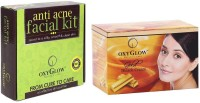 Oxyglow Anti Acne Facial Kit & Gold Bleach Cream (Set Of 2)