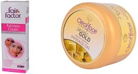 Clear Face Fairness Cream With Multivitamin With 24 Carat Gold Dust Almond Oil Massage Gel (Set Of 2)