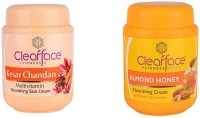 Clear Face Kesar Chandan Multivitamin Nourishing Skin Cream With Almond Honey Nourishing Cream (Set Of 2)