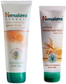 Himalaya Clarifying Fairness Face Wash and Gentle Exfoliating Apricot Scrub