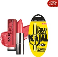 Maybelline The Colossal Kajal With Bold Matte By Color Sensational Lip Color (Set Of 2)
