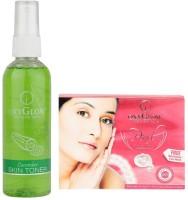Oxyglow Cucumber Skin Toner & Pearl Facial Kit (Set Of 2)