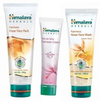 Himalaya Herbals Fairness Face Wash, Face Pack & Fairness Cream (Set Of 3)