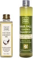 Auravedic Pure Coconut Oil And Hair Fall Control Shampoo List 4 (Set Of 2)