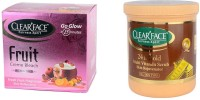 Clear Face Fruit Cream Bleach With 24 K Multi Vitamin Scrub Skin Rejuvenator (Set Of 2)