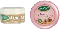 Clear Face Mud Pack Refines & Softness Skin Texture With Fruitwine Scrub (Set Of 2)