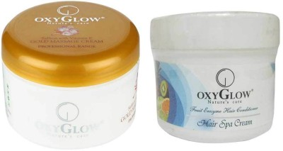 Oxyglow Combos and Kits Oxyglow Saffron with vitamin E Gold Massage Cream & Hair Spa Cream