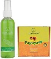 Oxyglow Cucumber Skin Toner & Papaya Facial Kit (Set Of 2)