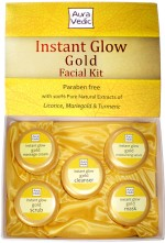 Auravedic Combos and Kits Auravedic Instant Glow Gold Facial Kit