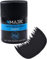 Majik Black Hair Building Fiber (7 Grams) With Optimizer Comb (Set Of)