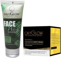 Oxyglow Neem & Tulsi Face Wash & Nourishing Night Cream (Set Of 2)