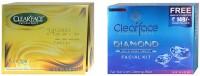 Clear Face 24 Carat Gold Facial Kit & Daimond Facial Kit (Set Of 2)