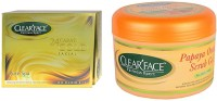 Clear Face 24 Carat Gold Facial Kit With Papaya Orange Scrub Gel (Set Of 2)