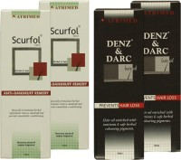 Atrimed Denz & Darc Hair Oil And Scurfol Anti-Dandruff Topical Pack Of 4 (Set Of 4)