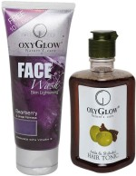 Oxyglow Combos and Kits Oxyglow Bearberry Face Wash & Amla & Shikakai Hair Toinc