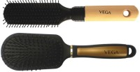 Vega Premium Flat Hair Brush E8-Fb With Premium Collection Cushioned Brush E14-Cb (Set Of 2)