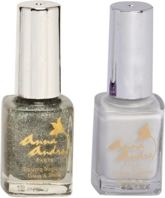 Anna Andre Paris Combos and Kits Anna Andre Paris Nail Polish French Sparkle Manicure Duo Set