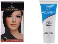 Oxyglow Hair Colour Cream-Black & Oxynourshing Massage Cream (Set Of 2)