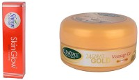 Clear Face Skinglow Cream With 24 Carat Gold Massage Gel (Set Of 2)