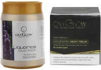 Oxyglow Liquorice Mud Pack & Nourishing Night Cream (Set Of 2)