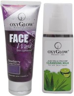 Oxyglow Combos and Kits Oxyglow Bearberry Face Wash & Aleo Vera & Citrus Deep Cleansing Milk