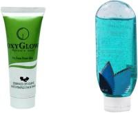 Oxyglow Essence Of Clove Anti Pimple Face Pack 3 & Bath Gel Blue (Set Of 2)