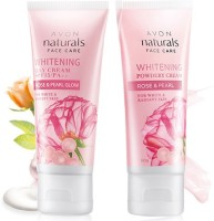 Avon Rose & Pearl Day SPF15/PA++ (50g) & Powdery Night (50g) Cream Combo Pack (Set Of 2)