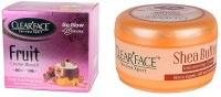 Clear Face Fruit Cream Bleach & Shea Butter Moisturising Cream (Set Of 2)